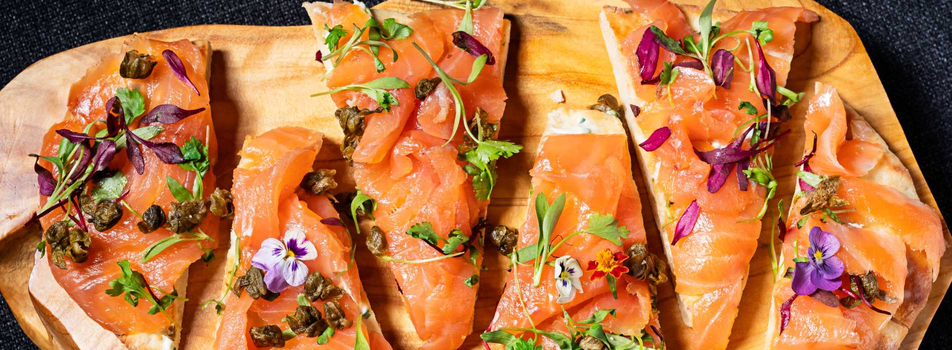 Salmon Platter served within L'Enfant Bar and Grill