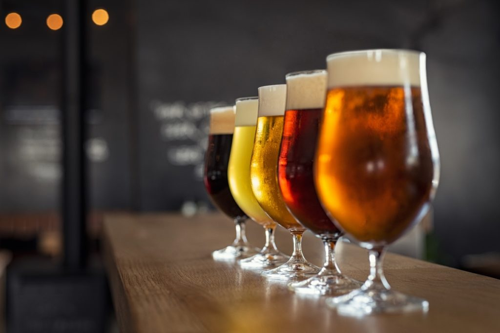Wide variety of local beers on tap